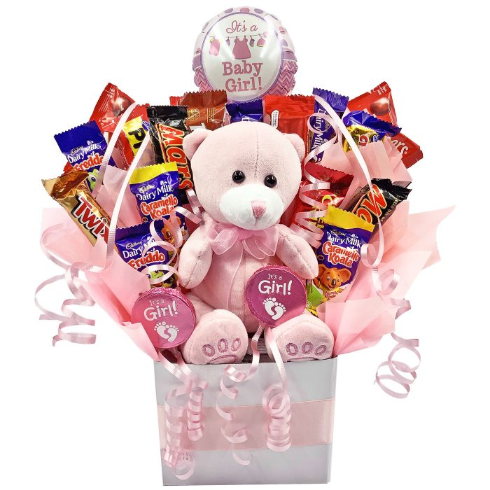 New Baby Girl Chocolate Bouquet